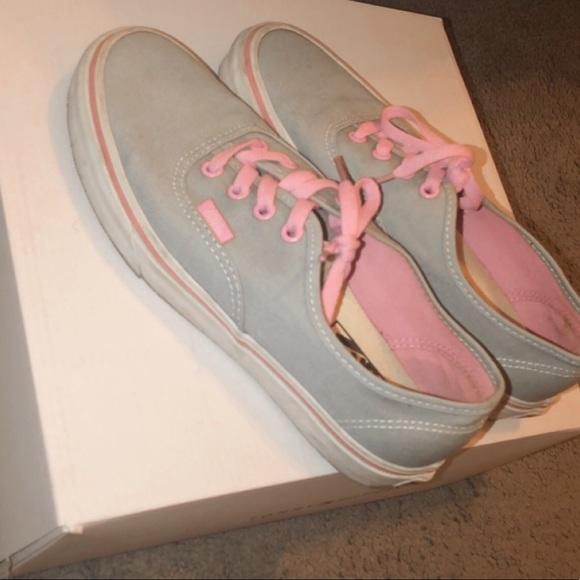 Vans Shoes | Pink And Grey Vans | Poshmark